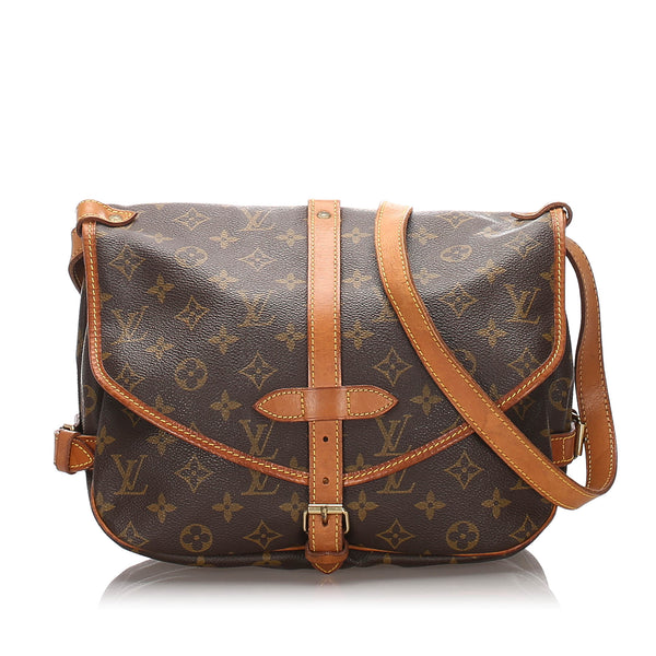Brown Louis Vuitton Monogram Saumur 30 Bag