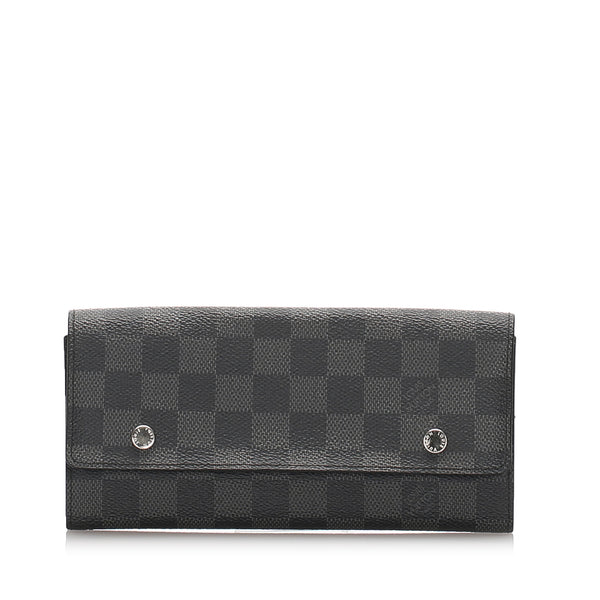Black Louis Vuitton Damier Graphite Portefeuille Long Modulable Wallet