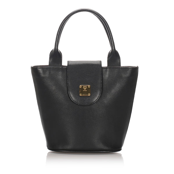 Black MCM Leather Handbag Bag