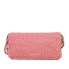 Pink Miu Miu Gathered Leather Chain Shoulder Bag