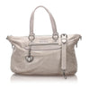Gray Miu Miu Nappa Leather Satchel Bag