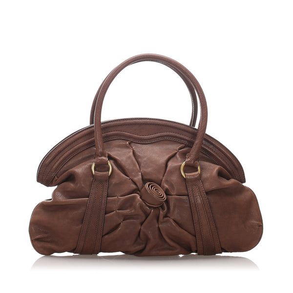 Brown Valentino Leather Handbag Bag