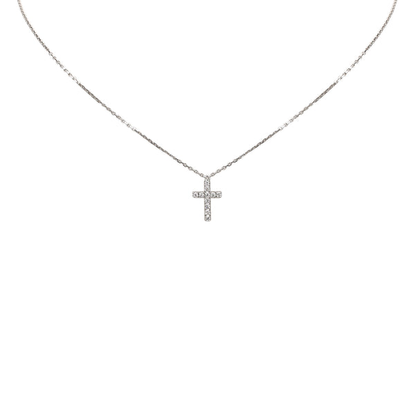 Silver Cartier Diamond Symbols Necklace