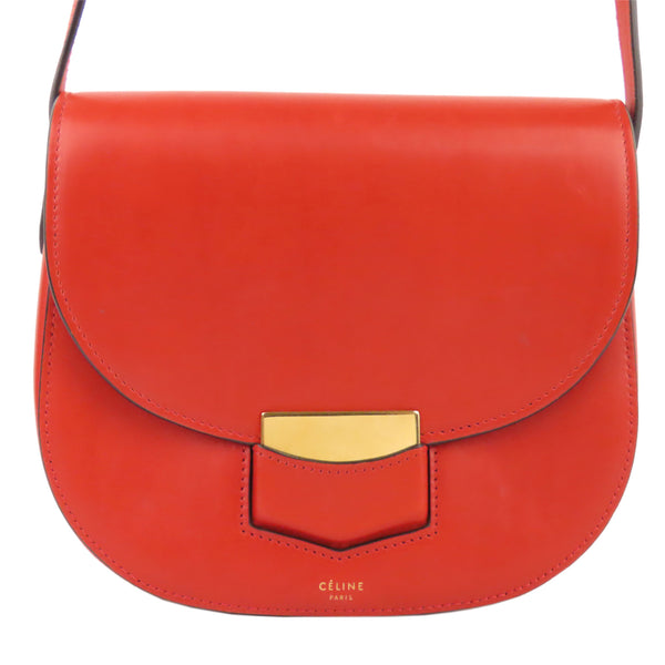 Red Celine Small Trotteur Crossbody bag Bag