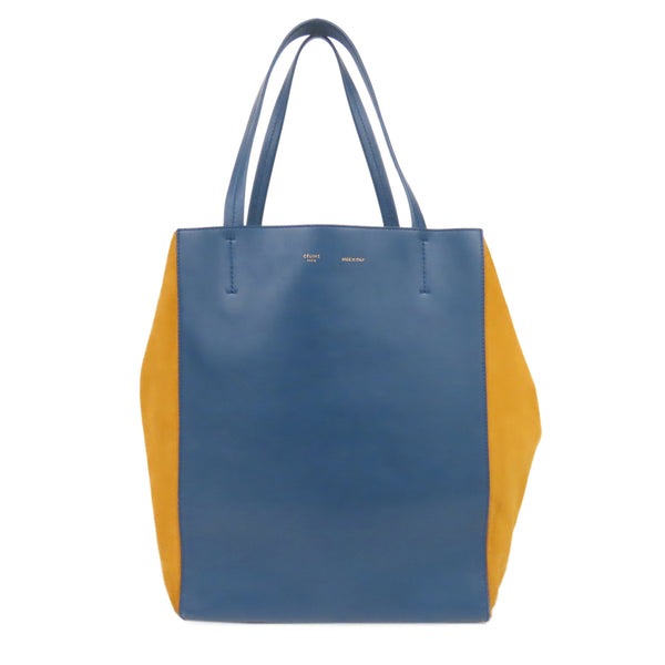 Blue Celine Medium Bicolor Cabas Phantom Tote Bag