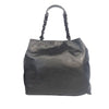 Black Chanel CC Leather Chain Tote Bag