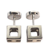 Silver Hermes Cage dH Earrings
