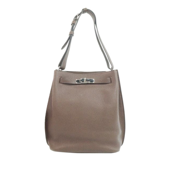 Brown Hermes Clemence So Kelly 22 Bag