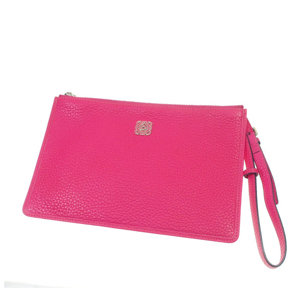Pink Loewe Leather Anagram Pouch