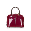 Red Louis Vuitton Vernis Miroir Alma BB Bag
