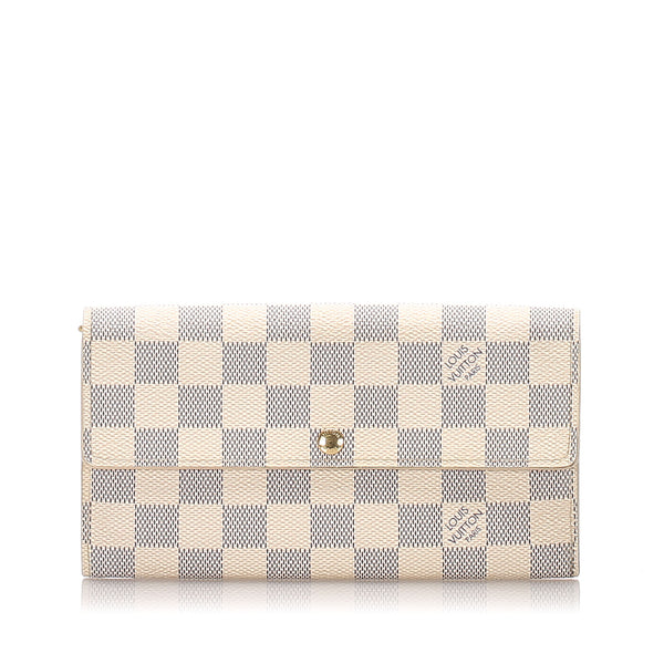 White Louis Vuitton Damier Azur Sarah