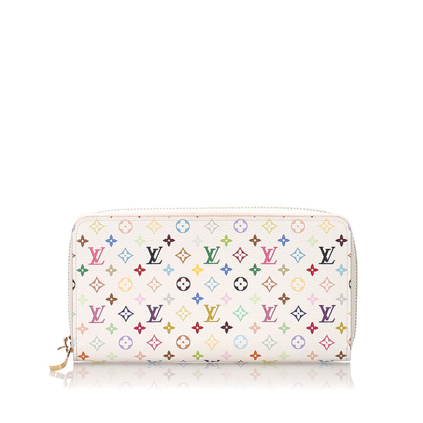 White Louis Vuitton Monogram Multicolore Zippy Wallet