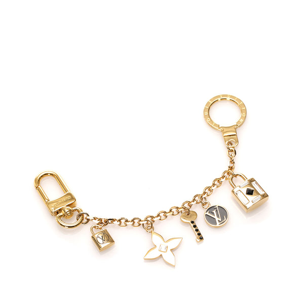 Gold Louis Vuitton Lock Me Strass Charm