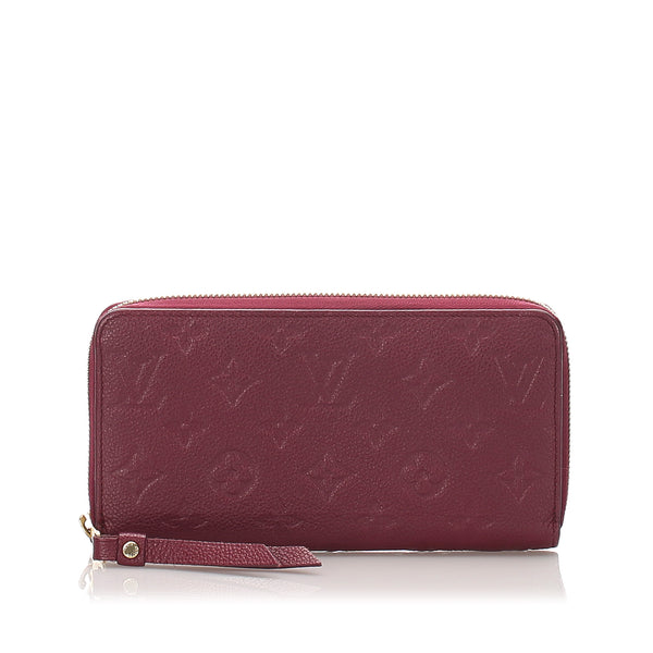 Pink Louis Vuitton Monogram Empreinte Zippy Wallet