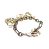 Gold Chanel Faux Pearl Coco Bracelet