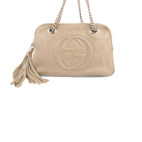 Brown Gucci Soho Chain Shoulder Bag