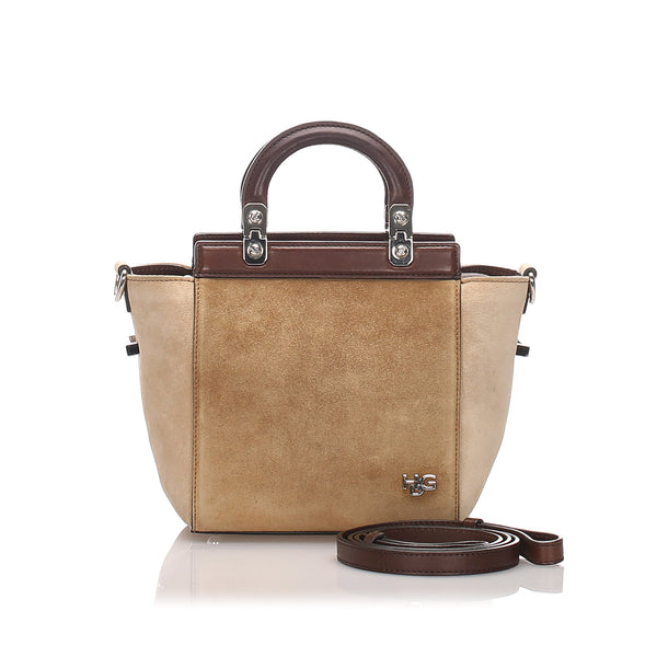 Brown Givenchy HDG Suede Satchel Bag