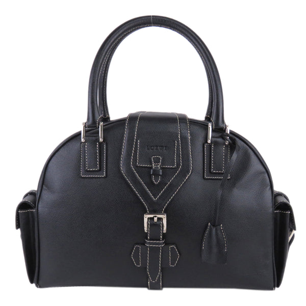 Black Loewe Leather Handbag Bag