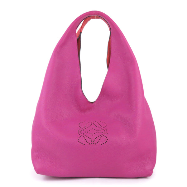 Pink Loewe Dunas Leather Hobo Bag
