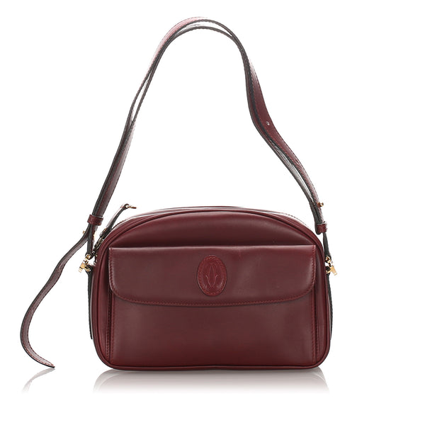 Red Cartier Leather Must de Cartier Crossbody Bag