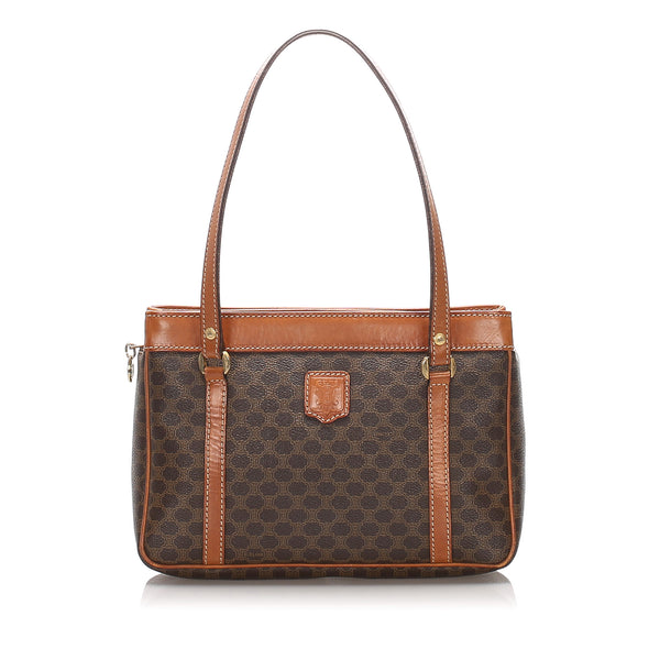 Brown Celine Macadam Shoulder Bag