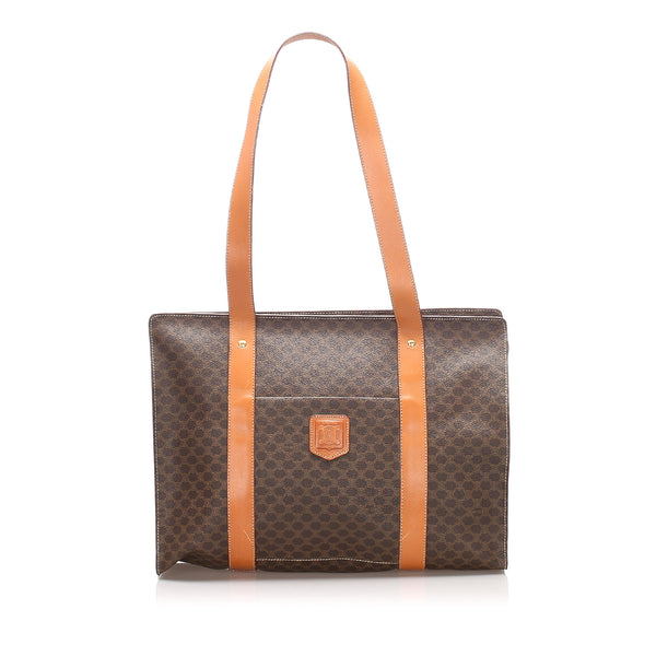 Brown Celine Macadam Tote Bag