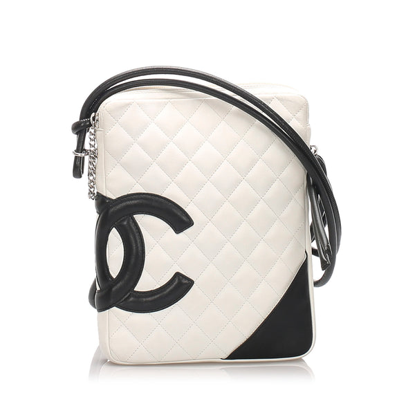 White Chanel Cambon Ligne Crossbody Bag
