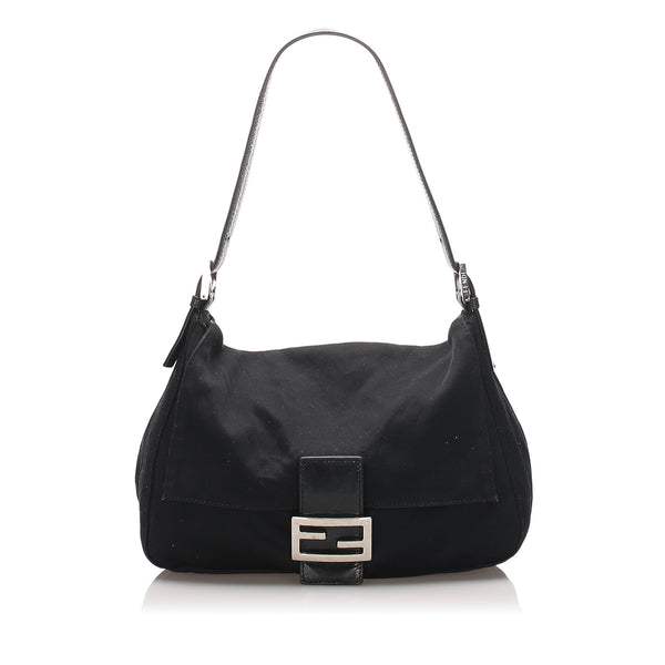 Black Fendi Nylon Mamma Forever Bag