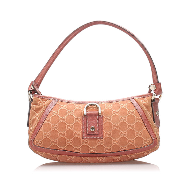Pink Gucci GG Canvas Abbey D-Ring Baguette