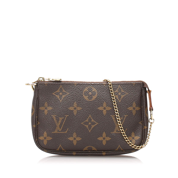 Brown Louis Vuitton Monogram Mini Pochette Accessoires Bag