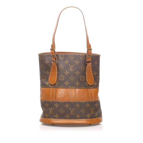 Brown Louis Vuitton Vintage Monogram Bucket Bag