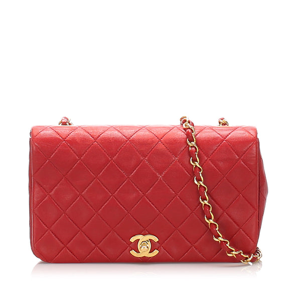 Red Chanel CC Timeless Leather Crossbody Bag