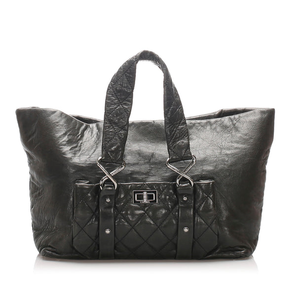 Black Chanel 8 Knots Tote Bag