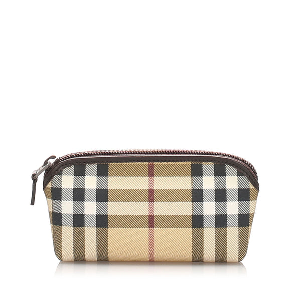 Brown Burberry House Check Pouch