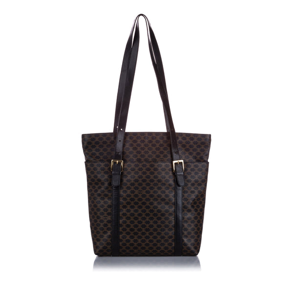 Black Celine Macadam Tote Bag