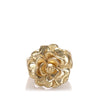 Gold Chanel Camellia Ring