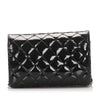Black Chanel CC Timeless Patent Leather Wallet on Chain