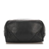 Black Chanel CC Lambskin Leather Pouch