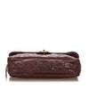 Burgundy Chanel CC Caviar Matelasse Shoulder Bag