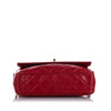 Red Chanel Classic Lambskin Leather Crossbody Bag