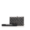 Black Chanel CC Wild Stitch Wallet on Chain