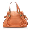 Orange Chloe Small Paraty Leather Satchel Bag