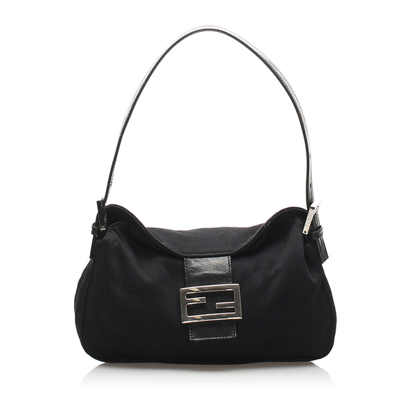 Black Fendi Cotton Mamma Baguette