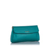 Blue Fendi Leather Crossbody Bag