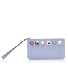 Purple Fendi Rainbow Stud Leather Pouch