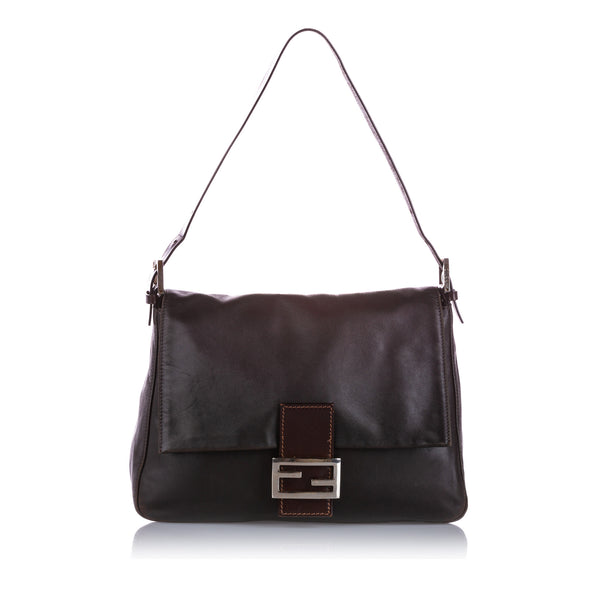 Black Fendi Mamma Forever Leather Shoulder Bag