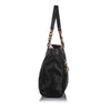 Black Fendi Lame Leather Shoulder Bag