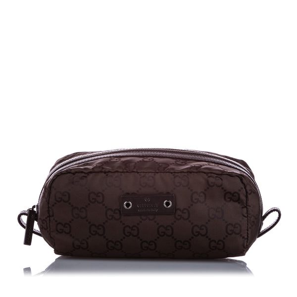 Brown Gucci GG Canvas Pouch
