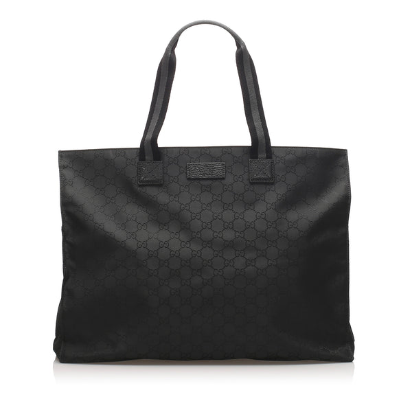 Black Gucci GG Nylon Web Tote Bag