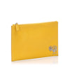 Yellow Prada Saffiano Leather Travel Pouch